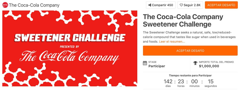 Desafio Coca-Cola en HeroX.