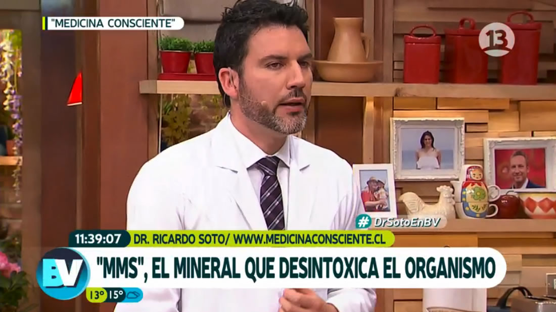Dr. Ricardo Soto hablando de la sustancia tóxica MMS.