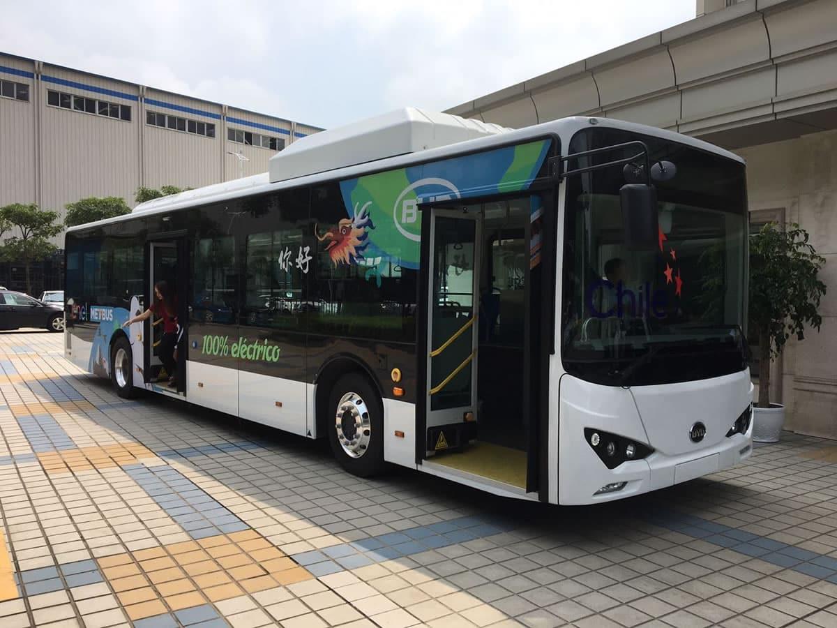 Bus eléctrico del Transantiago.