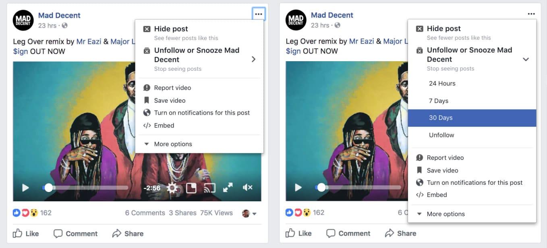 Silenciar en Facebook sería temporal.