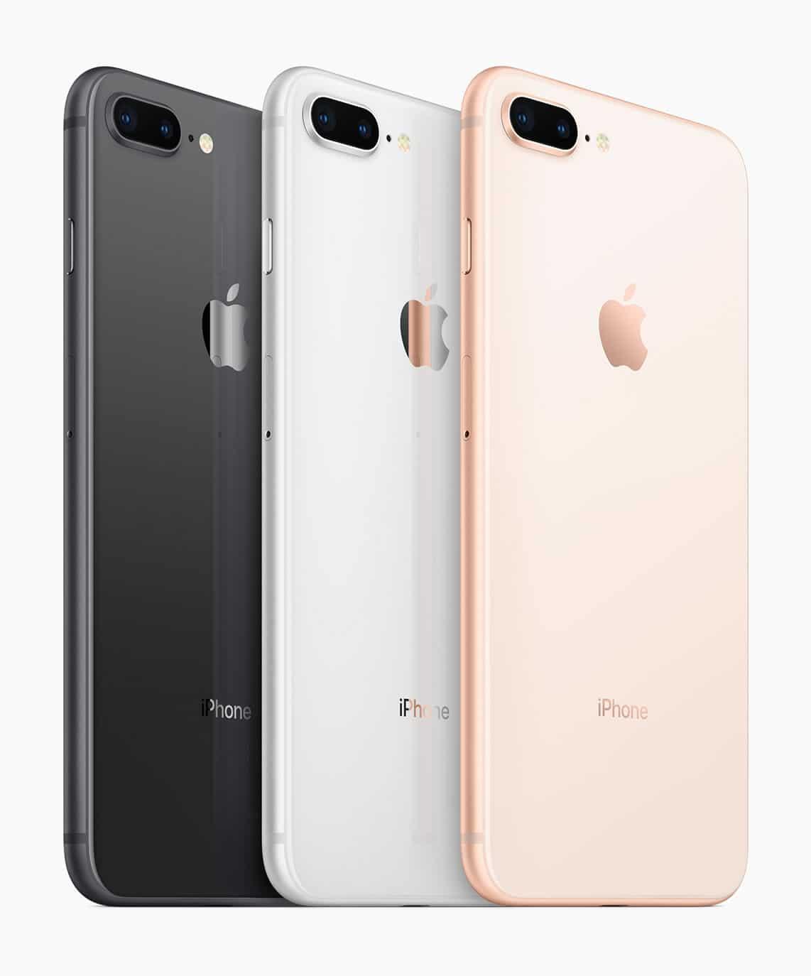 Colores del iPhone 8 y iPhone 8 Plus.