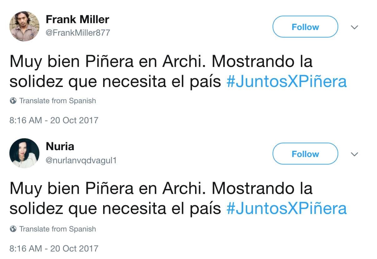¿Cómo identificar a los seguidores falsos (bots) de Sebastián Piñera?