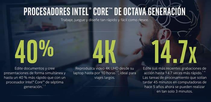 Ya están comercializándose los procesadores Intel Core de 8ª Generación
