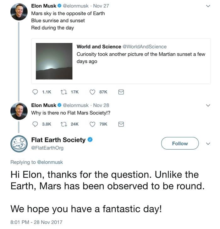 Los mismos que creen que la Tierra es plana, piensan que Marte no lo es