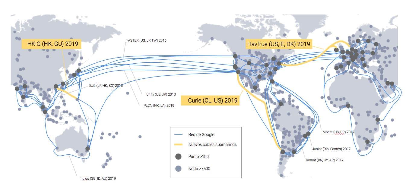¿Por qué Google instalará un cable submarino directamente con Chile?
