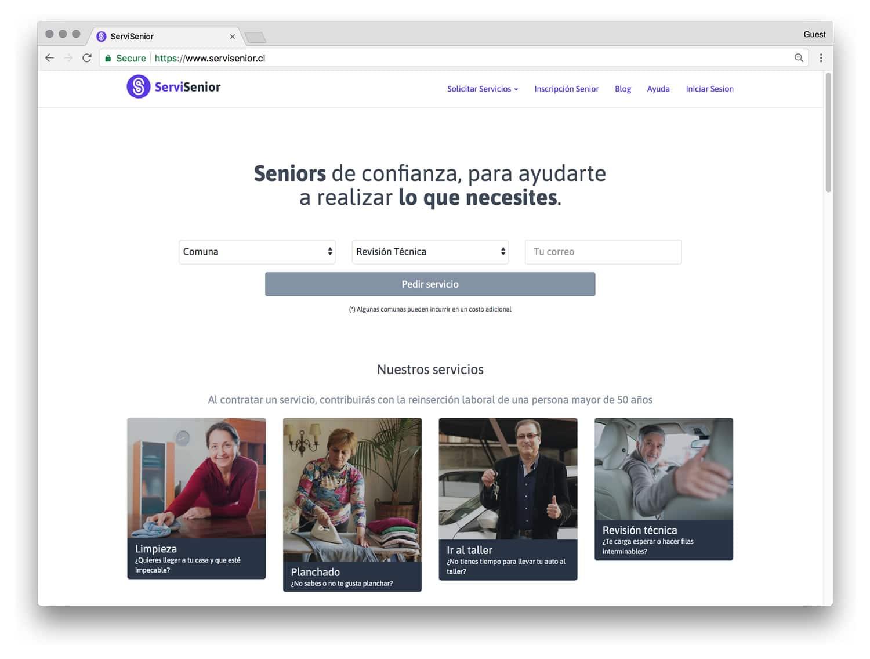 ServiSenior: una plataforma con trabajos para adultos de más de 50 años