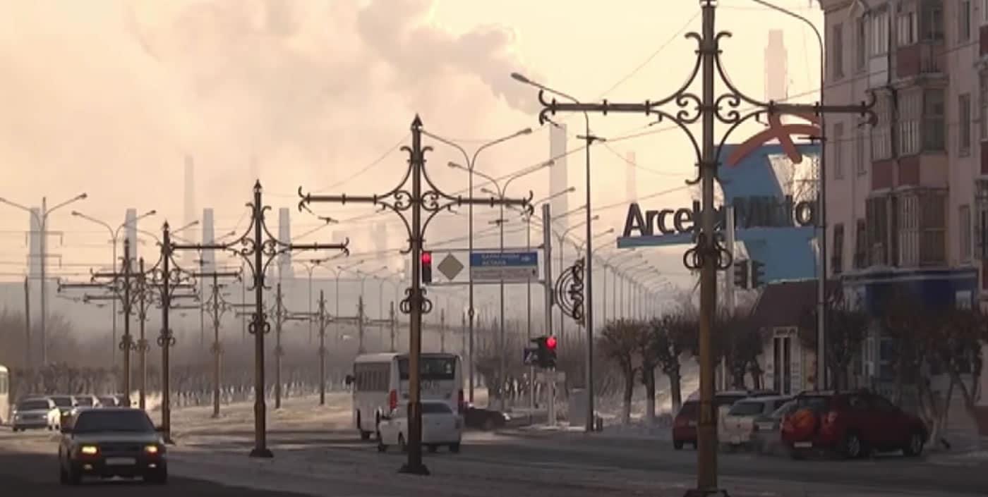 Temirtau: la ciudad en Kazajistán donde la nieve que cae es negra
