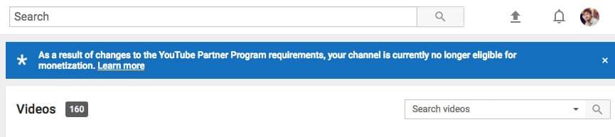 A partir de hoy Google elimina la monetización en incontables cuentas de YouTube