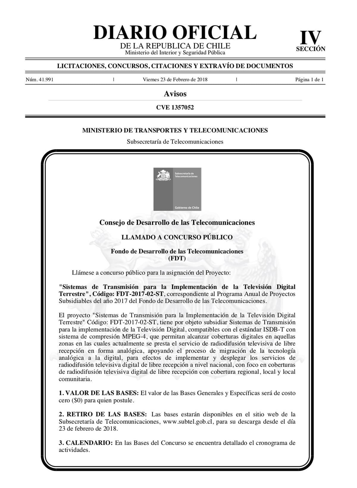 Se inicia concurso público para subsidiar a canales regionales por TVD