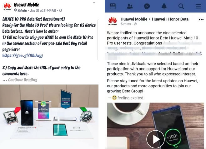 Descubren a Huawei comprando opiniones falsas para su Mate 10 Pro