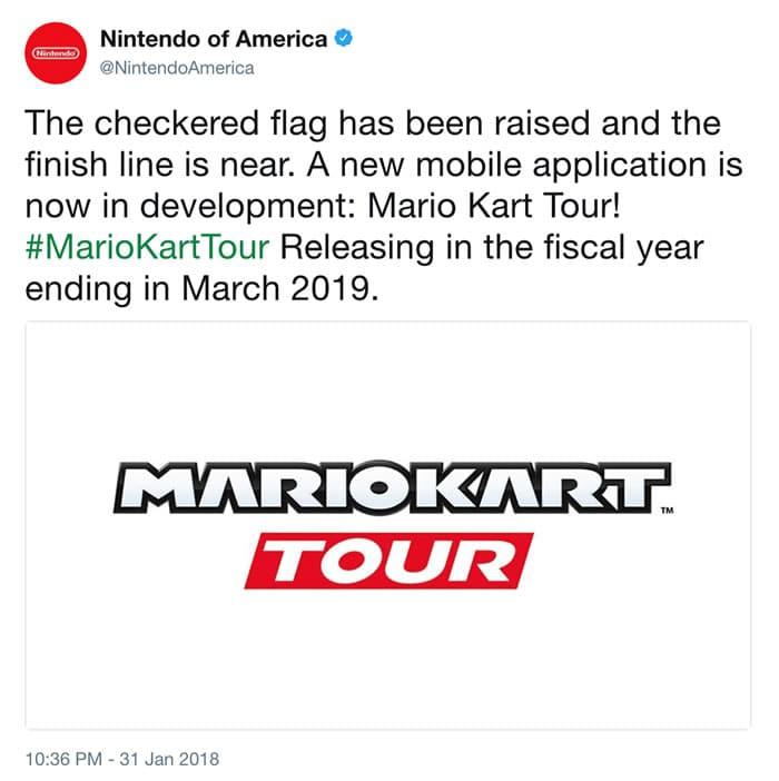 ¡Notición! Mario Kart llegará a teléfonos móviles, pero en 2019