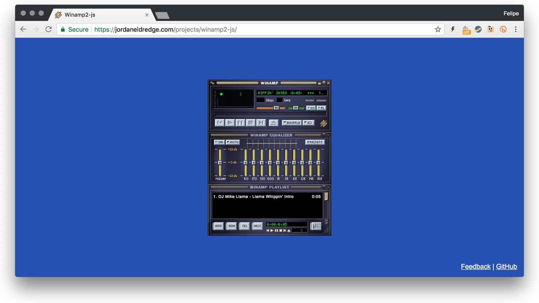 Notable: programador portó el clásico Winamp 100% operacional a la Web
