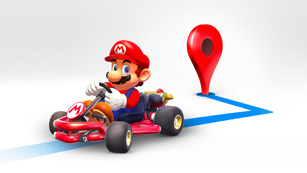 Cómo puedo tener \'Mario Kart\' como guía en Google Maps?