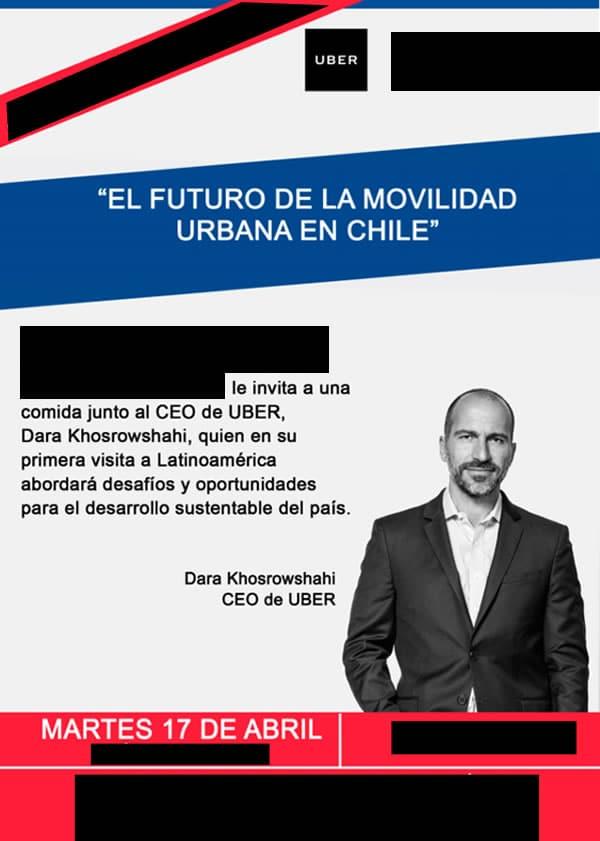 CEO de Uber está en Chile en un visita casi secreta y exprés