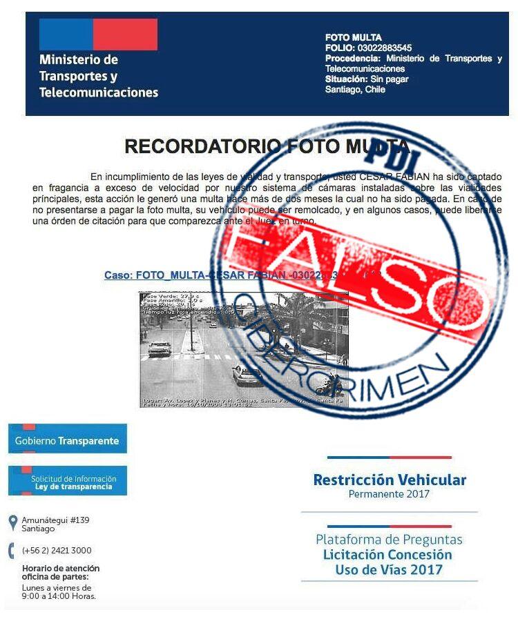 Una vez más advierten de falsos correos 'phishing' con multas de tránsito