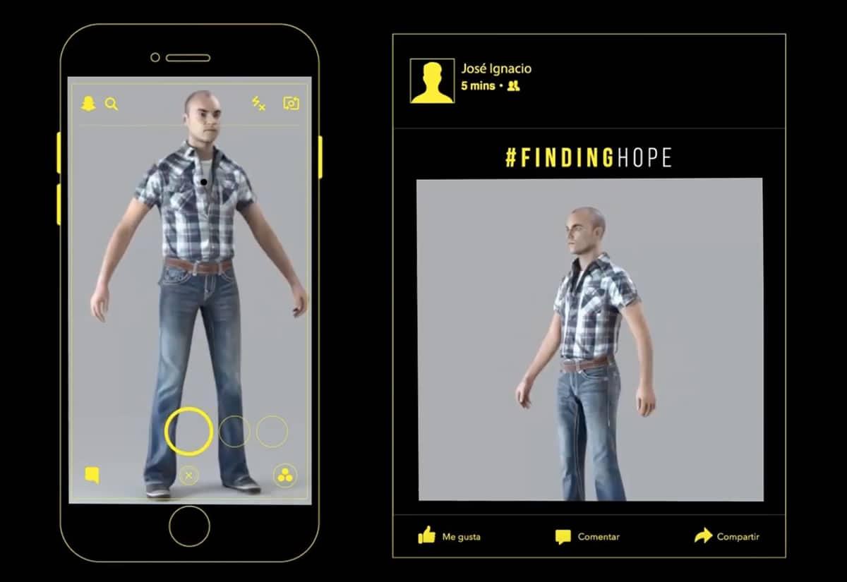 PDI y Snapchat lanzan campaña para encontrar personas con modelos 3D