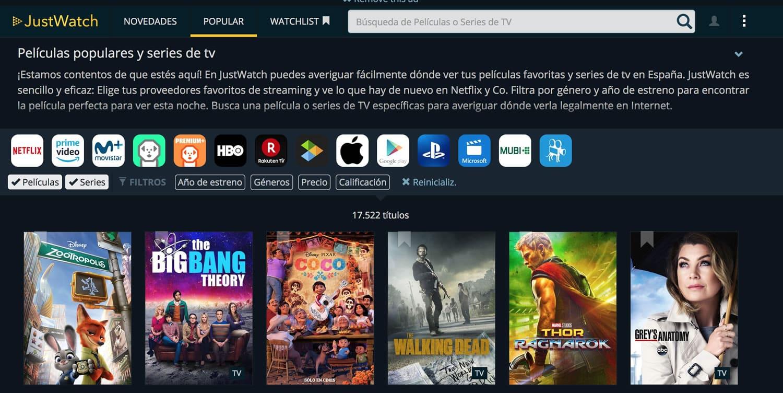 Esta Web te dirá dónde puedes ver legalmente la serie o película que quieras.