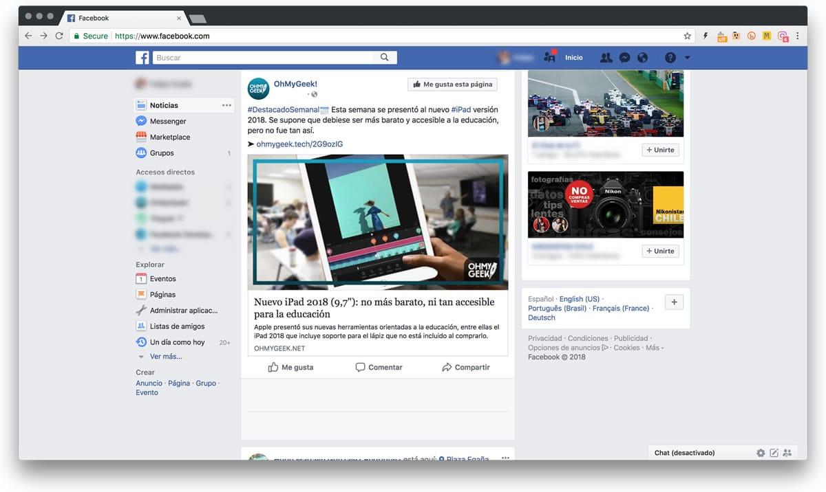 Cambios en Facebook: ¿cómo no dejar de leer una página que le diste me gusta?