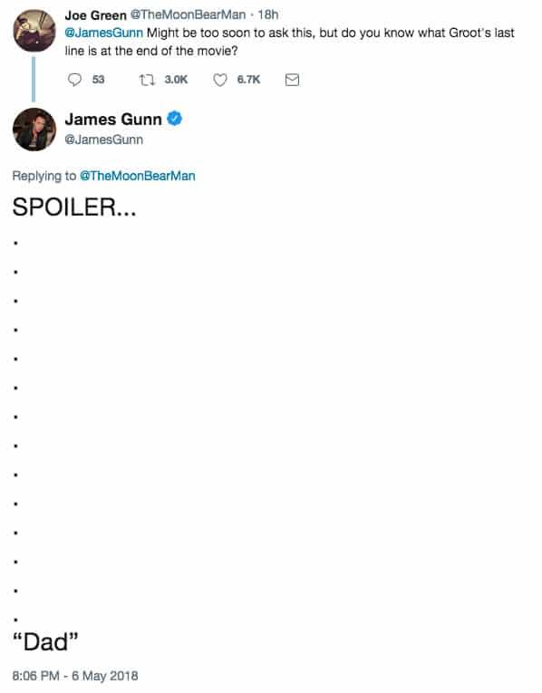 Esto fue lo que le dijo Groot a Rocket al final de Infinity War