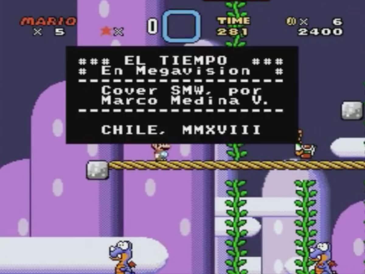 """Creó etapa de Super Mario World con la música de """"El Tiempo en Megavisión"""""""