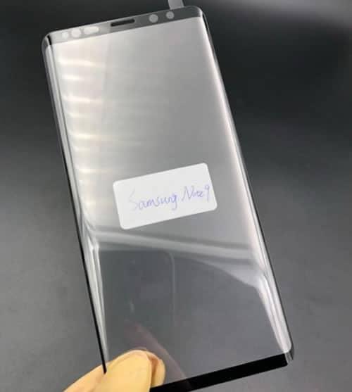 Filtran protector frontal de lo que sería el Galaxy Note 9