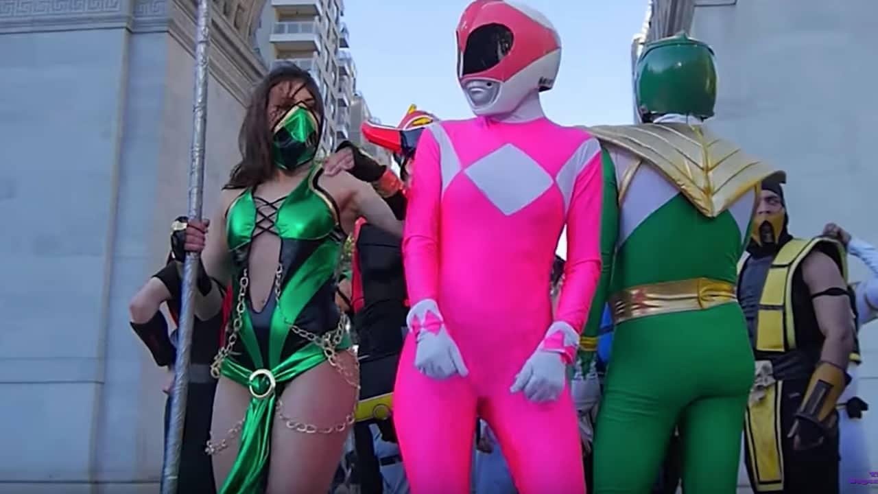 Flashmob realizó épica batalla entre los Power Rangers y Mortal Kombat