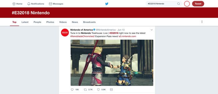 Lo más comentado de la E3 2018 en Twitter fue sobre Nintendo
