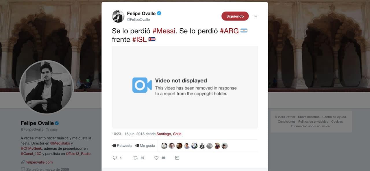 Si subes un video del Mundial de Fútbol a una red social perderás tu cuenta