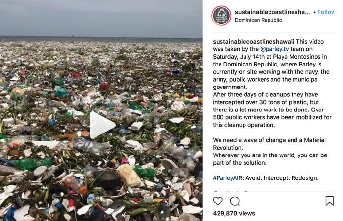 Video muestra la triste situación con la basura plástica en el mar de República Dominicana