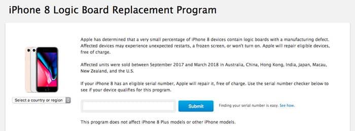 ¿Tienes un iPhone 8? Podrías recibir el cambio gratuito de la placa madre