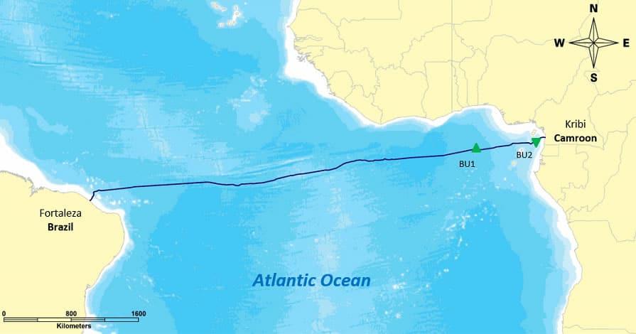Sudamérica y África ahora están unidos por fibra óptica submarina