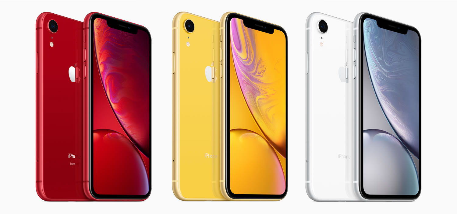 iPhone XR vendrá en 6 colores distintos al XS.