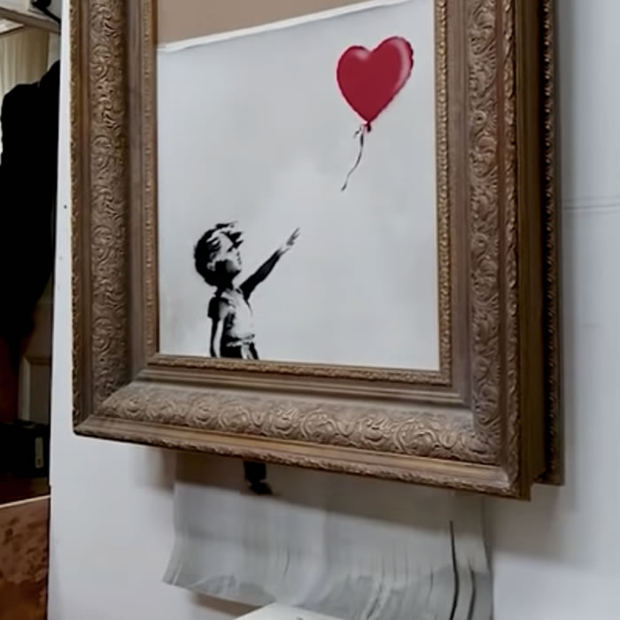 "Banksy subió un video mostrando todo el proceso para destruir a ""Balloon Girl"""