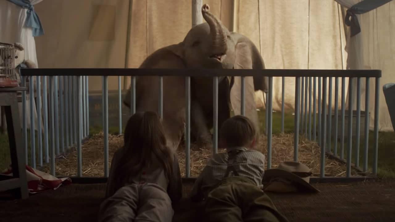 Milly y Joe junto a Dumbo.