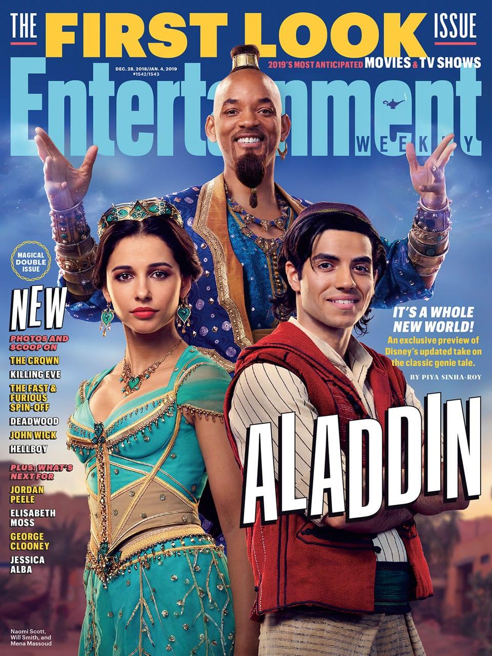 Así se ve Will Smith como el genio en la próxima live-action de Aladdin.