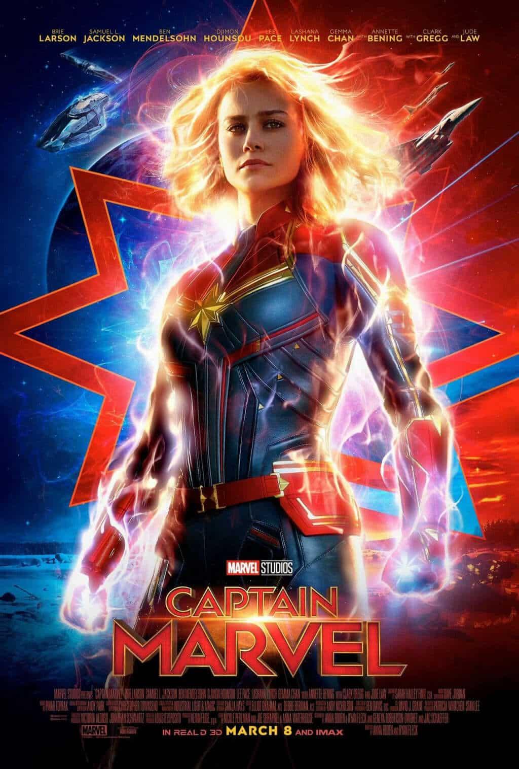 Póster oficial de Capitana Marvel.