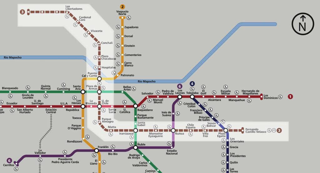 Todo lo que debes saber de la nueva Línea 3 del Metro de Santiago.