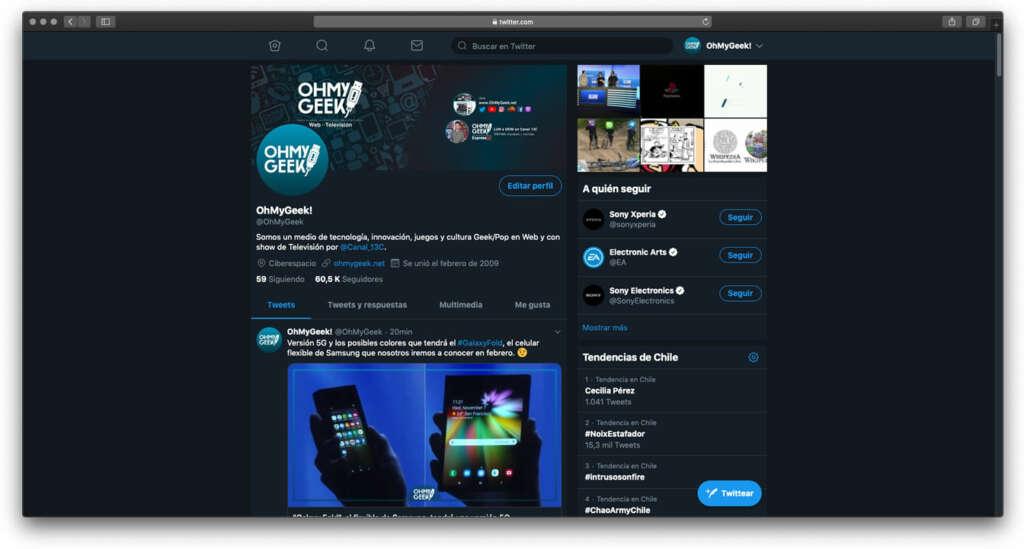 Usa la nueva interfaz de Twitter (2019) sin esperar la activación.