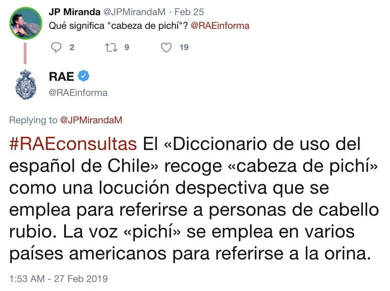 """La RAE responde qué es """"cabeza de pichí"""" por chiste de Felipe Avello."""