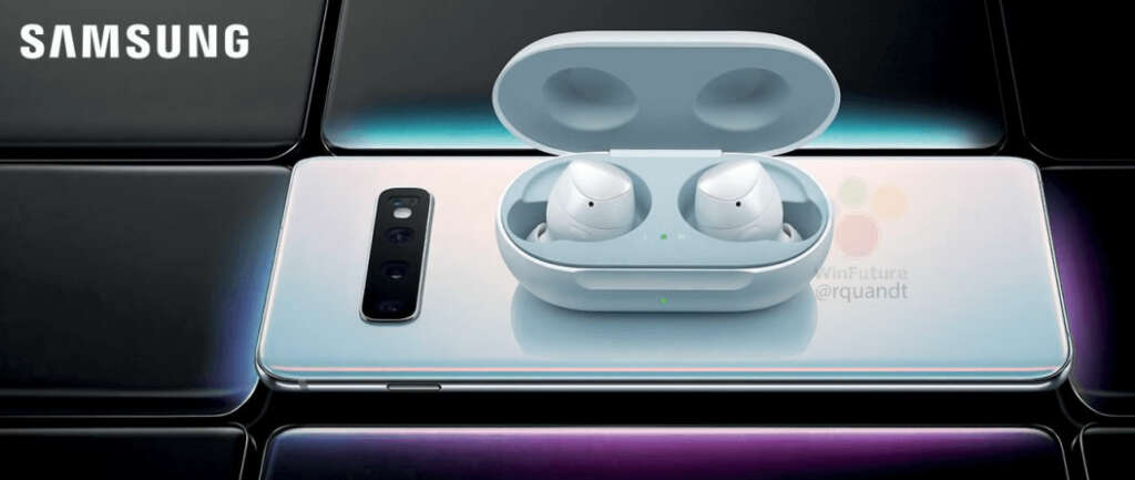 """Los nuevos """"AirPods"""" de Samsung se cargarán con dejarlos sobre el S10."""