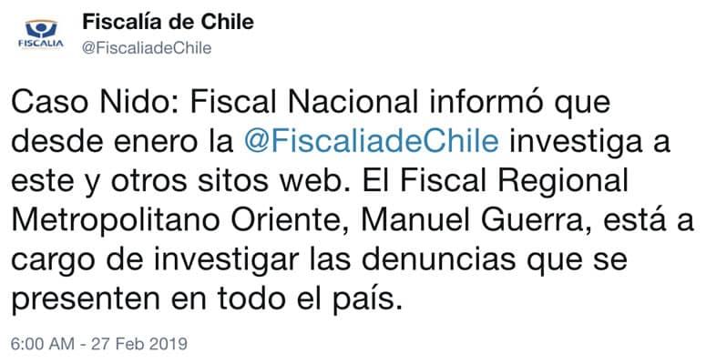 Caso Nido.org: fiscalía investigaba la Web desde enero pasado.