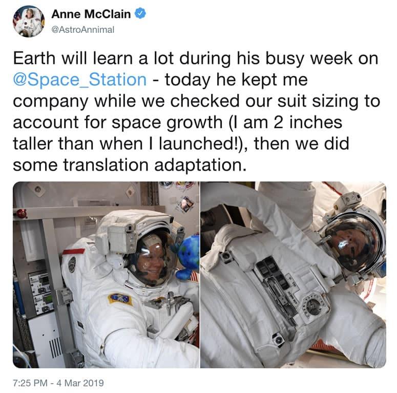 Histórico paseo espacial solo con mujeres no resultó por falta de trajes.