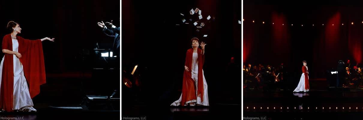 Esta compañía da shows con artistas muertos en hologramas.