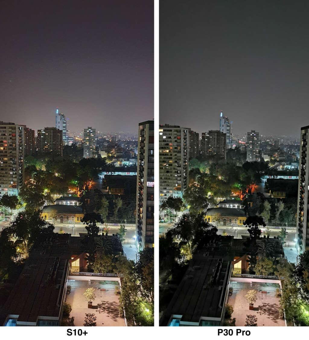 Ventajas y desventajas entre los modo noche del P30 Pro y Galaxy S10 Plus.