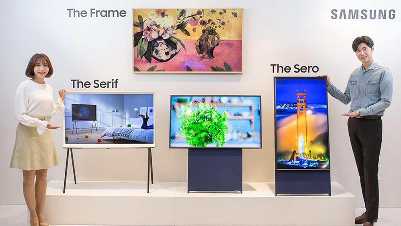 ¿Ridículo? Samsung sacó un televisor que se gira para ver videos en vertical.