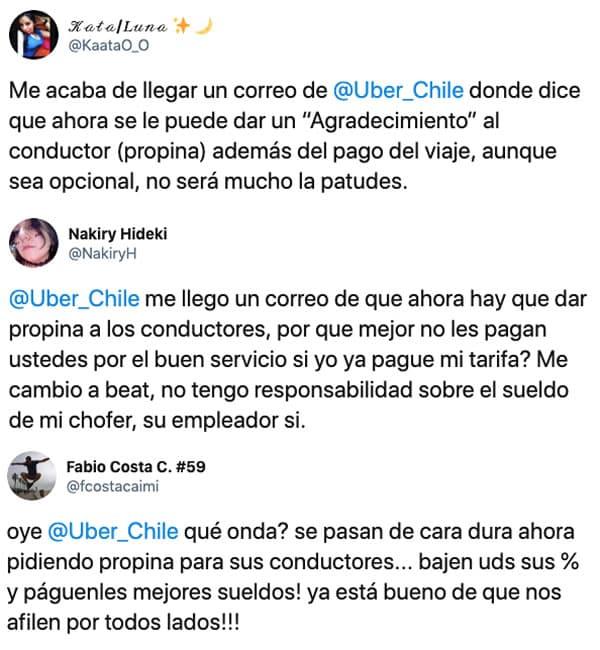 Uber activa la opción de dar propinas a los choferes en Chile.