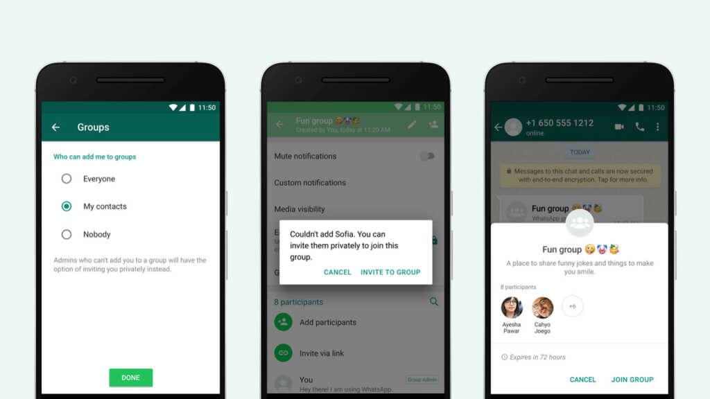 ¡Por fin! WhatsApp dejará aceptar o no cuando te inviten a grupos.