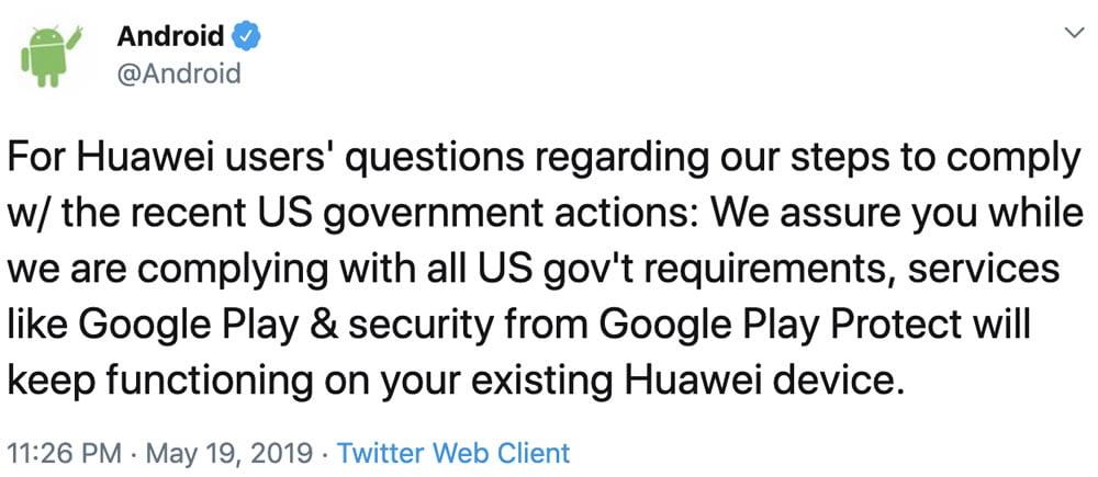 ¿Qué dicen oficialmente Android y Huawei a su conflicto de negocios?