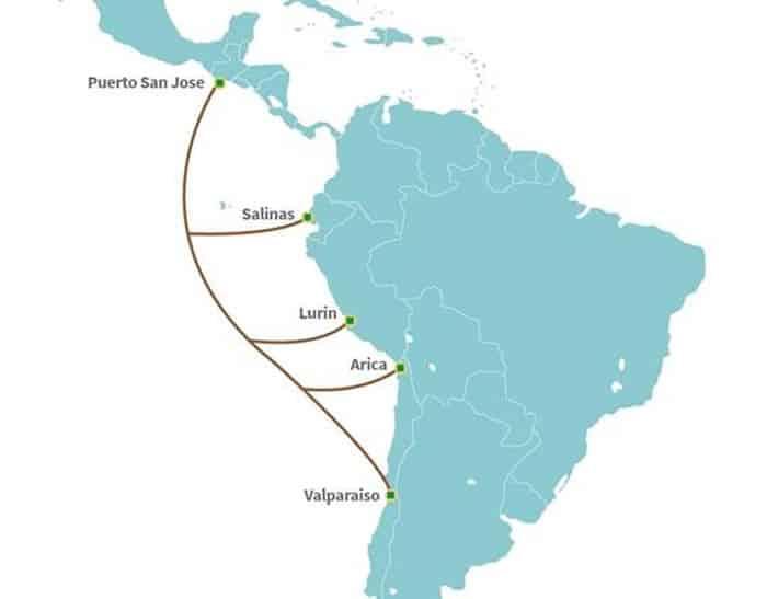 Nuevo cable submarino de Internet llegará a Chile en manos de América Móvil y Telefónica.